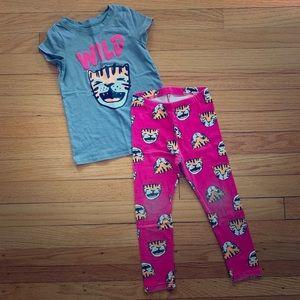 "Cat & Jack 3T ""Wild"" T-shirt and matching leggings"